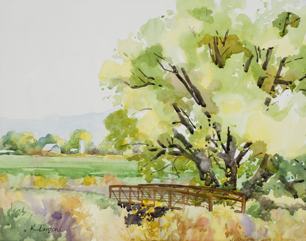 "Bike Path 13.5"" X 10.5"" original watercolor - giclee available"