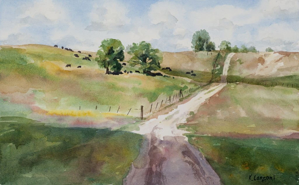 "County Roads 15.5"" X 10"" original watercolor - giclee available"