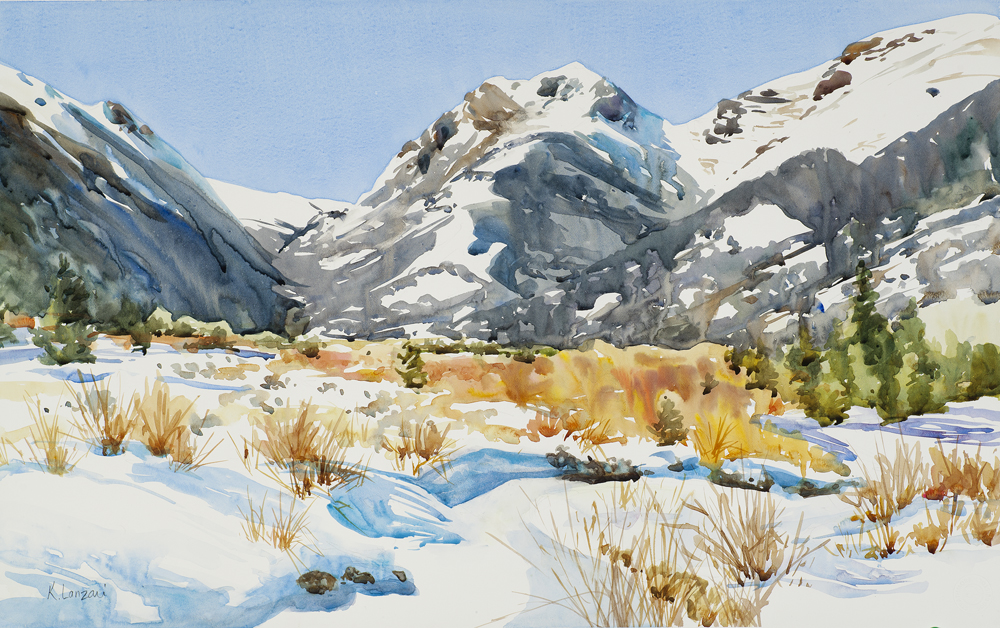 "Crystal Clear 14"" x 11"" original watercolor - giclee available"