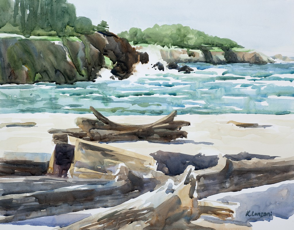 "Driftwood 13.5"" x 10.5"" original watercolor"