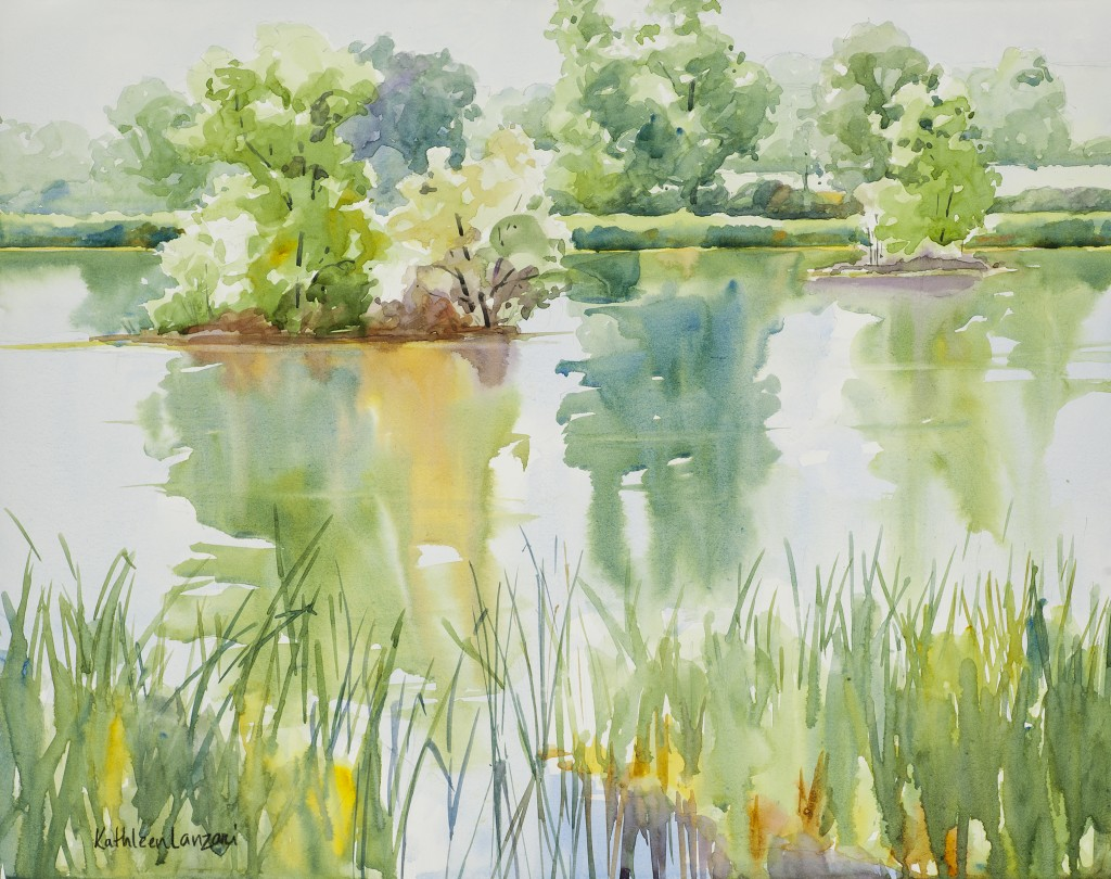 "Duck Lake at Walden Ponds 14"" X 11"" original watercolor - giclee available"
