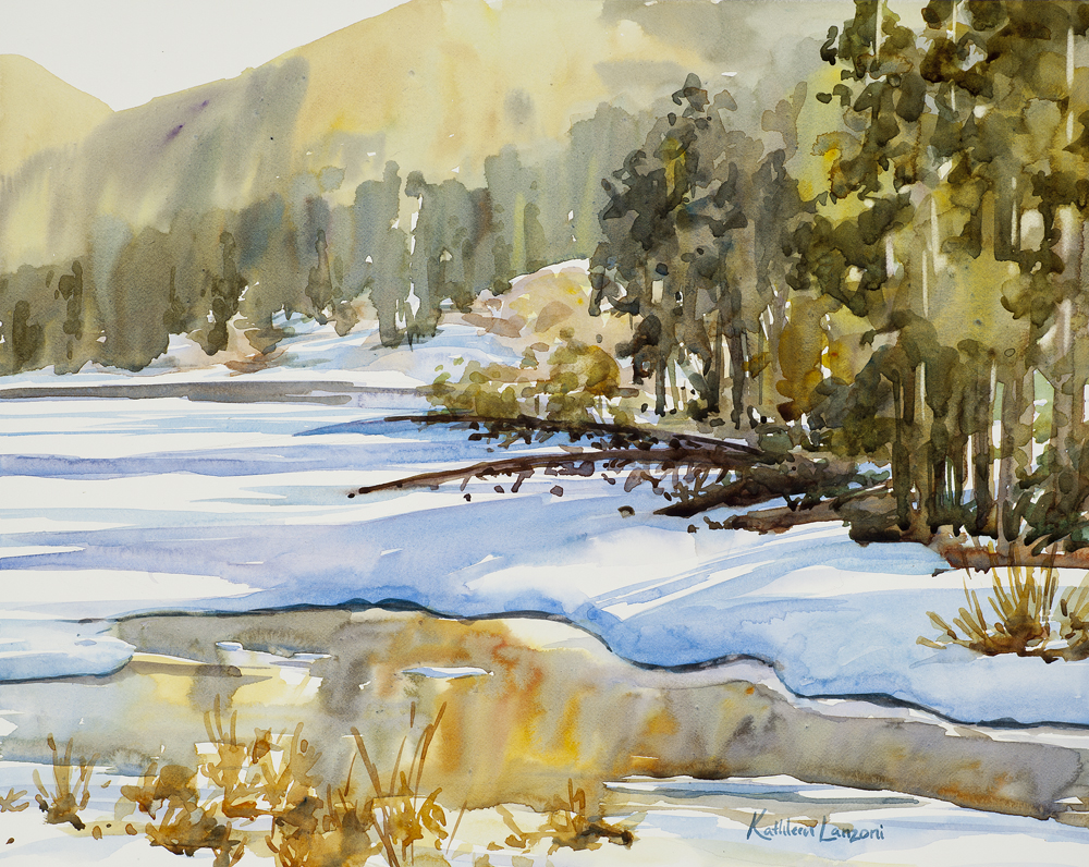 "Last Light 14 "" x 11"" original watercolor - giclee available"