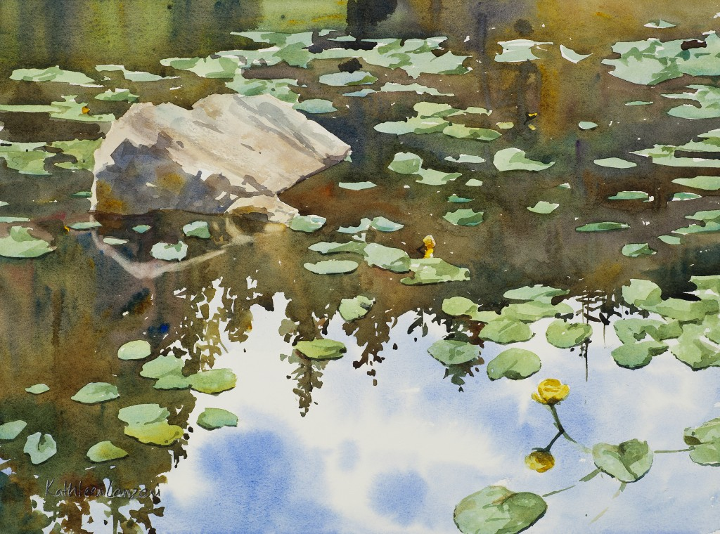 "Nymph Lake 14"" X 11"" original watercolor - giclee available"