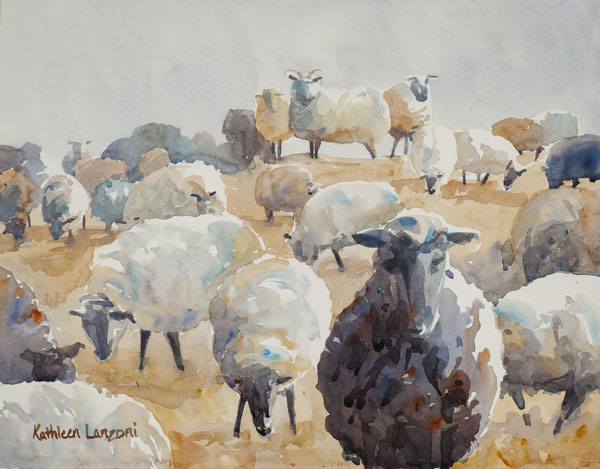 plein air- animals-sheep