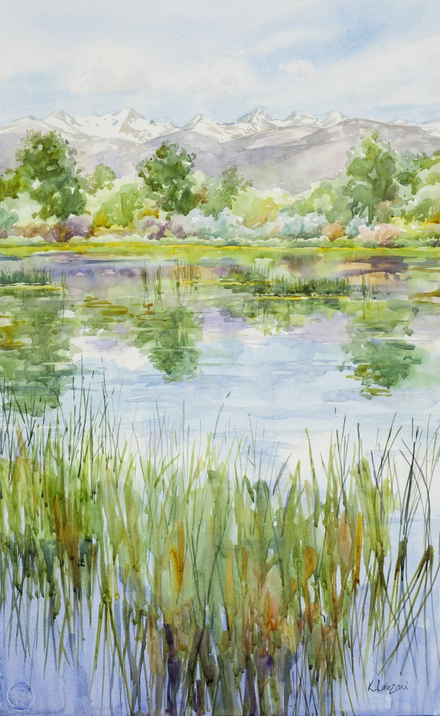"Sawhill Ponds 14"" X 22"" original watercolor - giclee available"