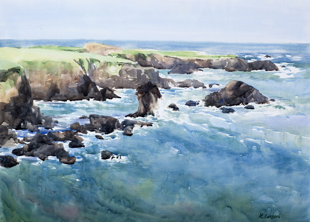 "Sea in Motion 19"" x 13.5"" original watercolor - giclee available"