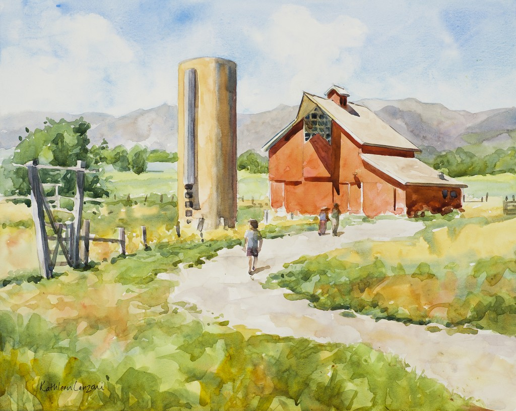 "Stroh-Dickens Barn 14"" X 11"" original watercolor - giclee available"