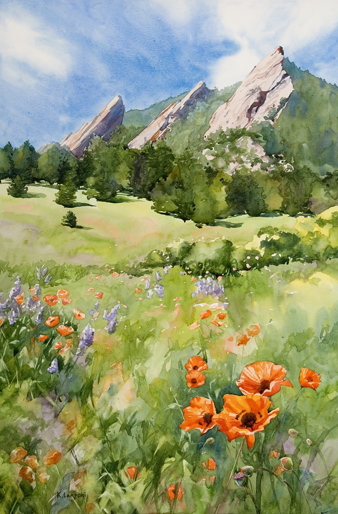 "Chautauqua Park 18.5"" x 29.5"" watercolor - giclee available"