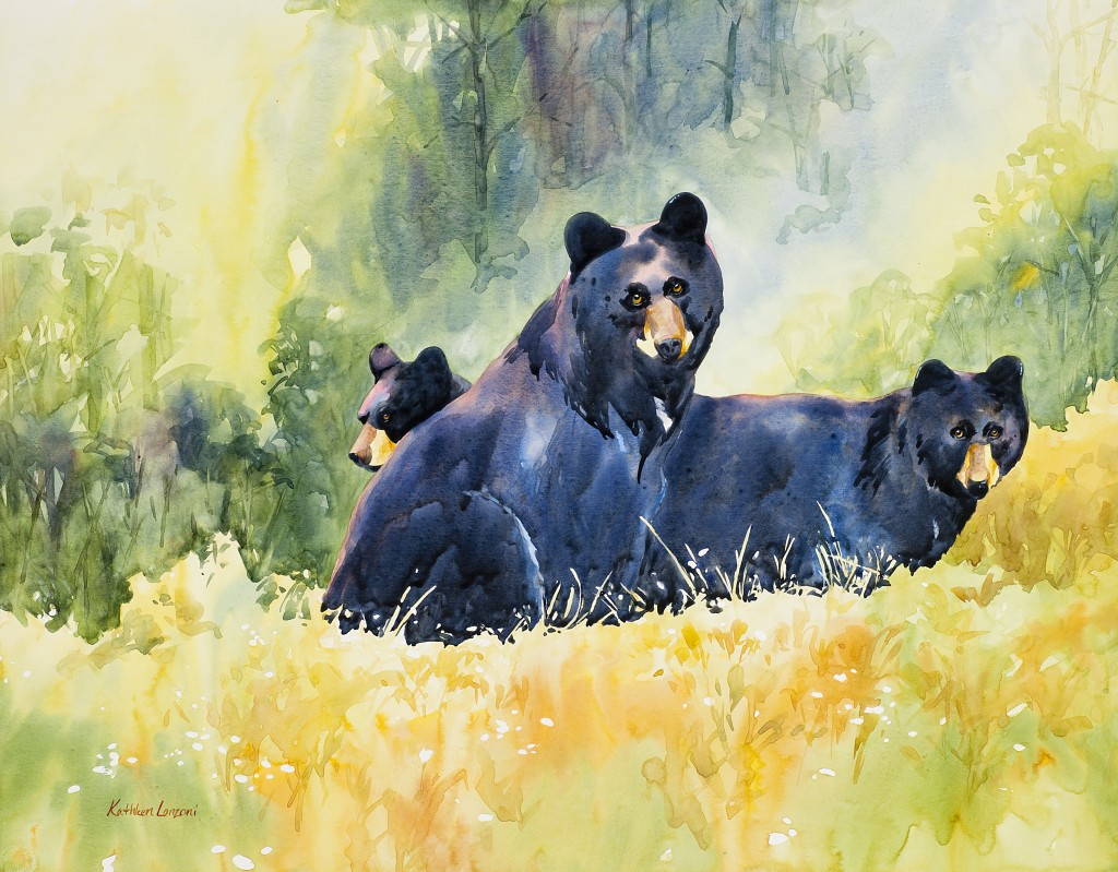 "Family Outing 27"" x 21"" watercolor - giclee available"
