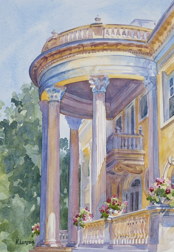 "Grand Entrance 9"" X 11"" original watercolor - giclee available"