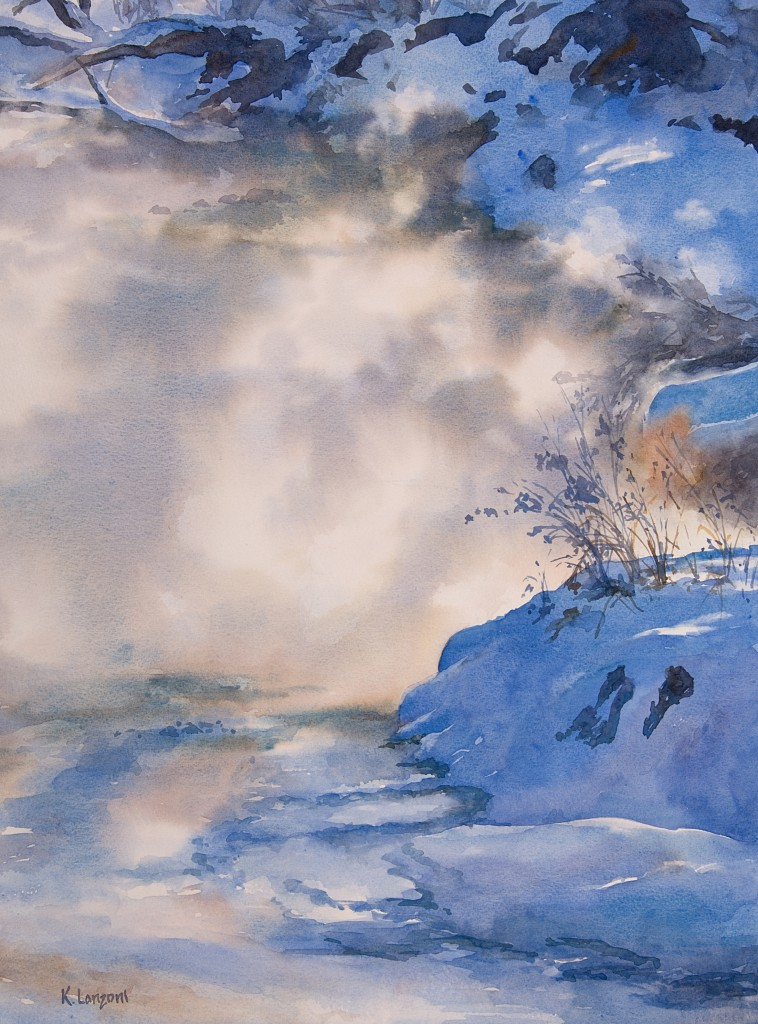 "Morning Mist 15.5"" X 21"" original watercolor - giclee available"