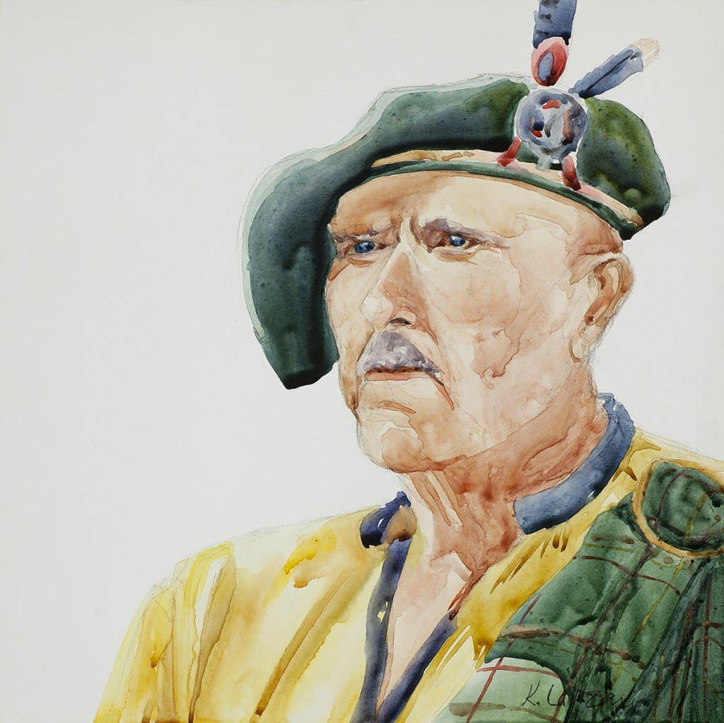 "Scottish Gentleman 8"" x 8"" original watercolor - giclee available"