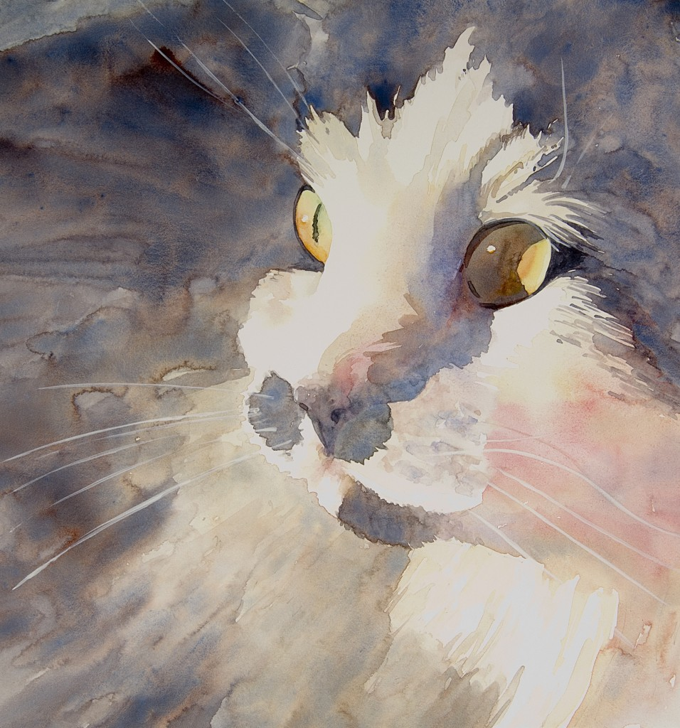 "The Look 7.5"" x 7"" watercolor - giclee available"