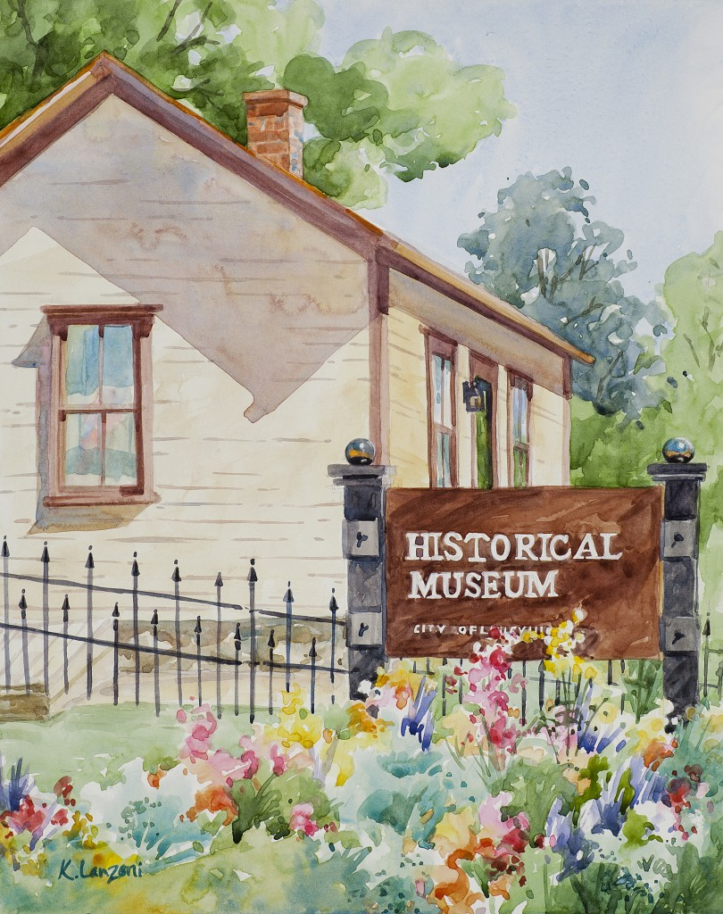 """Historical Louisville 11"""" X 14"""" original watercolor - giclee available"""