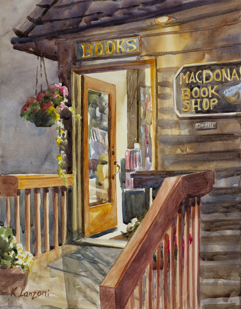 """Late Night Reading 13.5"""" X 10.5"""" original watercolor - giclee available"""