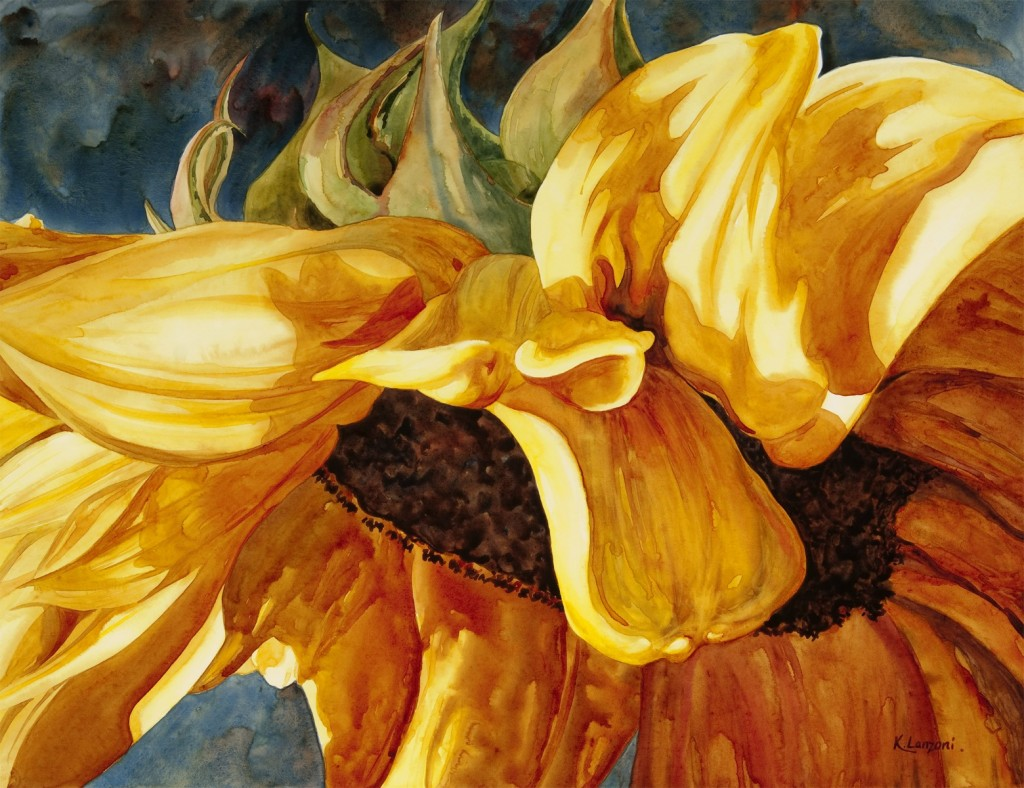 """Living Sunlight 27"""" x 21"""" original watercolor - giclee available"""