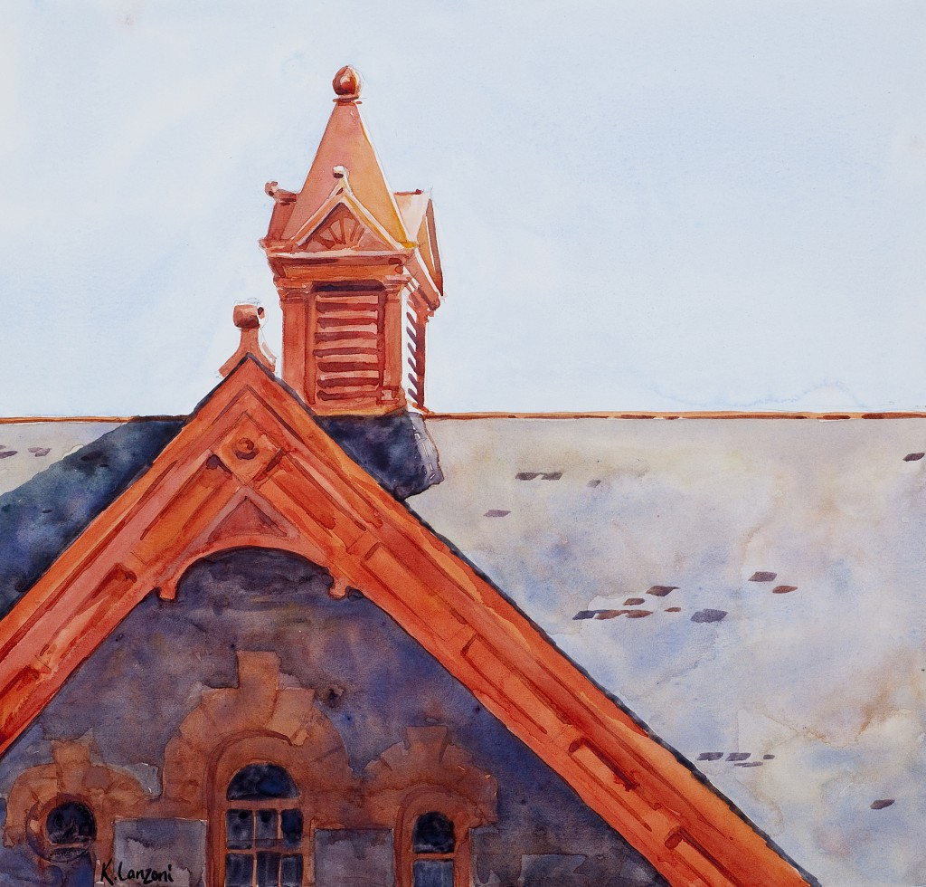 """Peaks and Pinnacles of Molly Brown's 11.5"""" x 11"""" original watercolor - giclee available"""