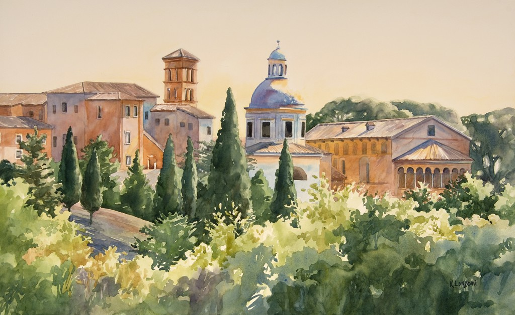 "Rome 22"" X 13"" original watercolor - giclee available"
